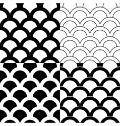 Set of seamless backgrounds in Victorian style vector image vector image