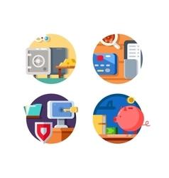 Storage money in bank vector image vector image