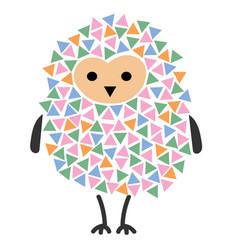 a cartoon owl stylized owl vector image