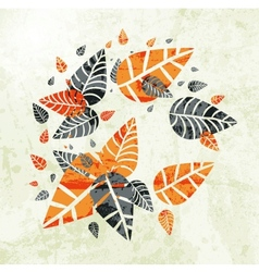 floral Autumn Leaves Background vector image