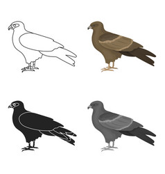 kite icon in cartoon style isolated on white vector image vector image
