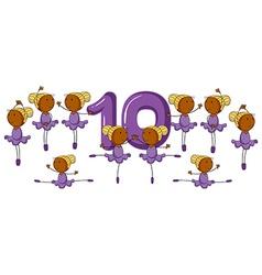 Number ten vector