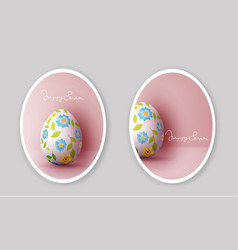 set easter greeting card with vector image vector image