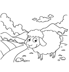 Sheep Colouring Pages vector image