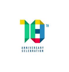 18 th anniversary celebration template design vector