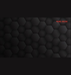 3d hexagons pattern technology dark gray abstract vector