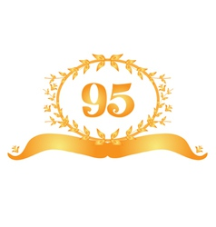 95th anniversary banner vector image