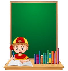a boy student study vector image