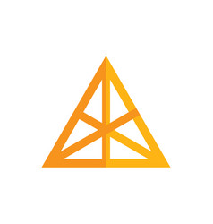 abstract triangle business logo vector image