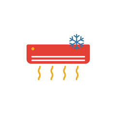 air condition icon simple flat element from vector image