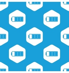 Almost full battery hexagon pattern vector