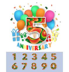 Anniversary celebration invitation greeting card vector