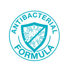 Antibacterial shield with crossed bacteria vector