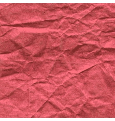 Background crumpled paper in red color vector