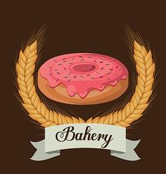 Bakery design over brown background vector image