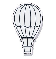 Balloon air hot travel isolated icon vector