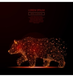 Bear low poly flame vector