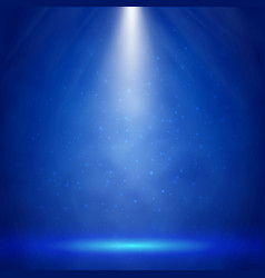 Blue stage illumination with spotlights vector