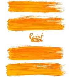 Bright orange acrylic brush strokes vector image