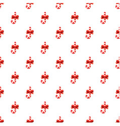 Candy cane with bow pattern vector