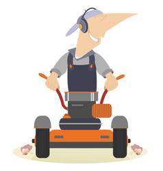 Cartoon lawnmower vector