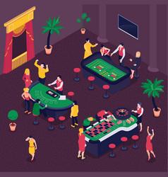 casino isometric background vector image