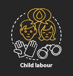 Child labour chalk concept icon children vector