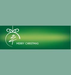 Christmas-ball-green-banner vector
