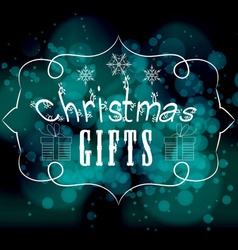 Christmas gifts light background vector