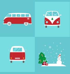 christmas vans vector image