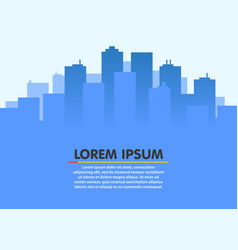 City skyline urban city landscape flat style vector