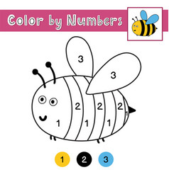 Color numbers game for kids activity page vector