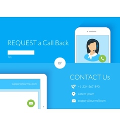 Contact us webform vector