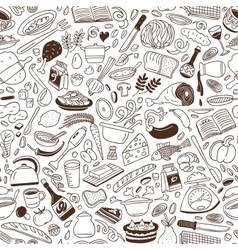 Cookery - seamless background vector image