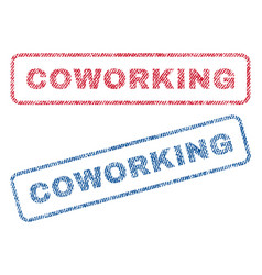 Coworking textile stamps vector