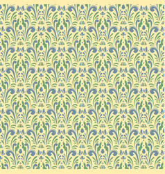 damask vintage seamless pattern background vector image