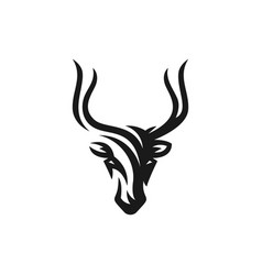 deer logo on white background vector image