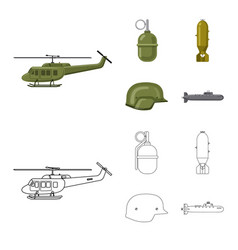Design of weapon and gun symbol set vector