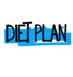 Diet plan typographic stamp vector