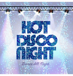 Disco background hot disco night vector image
