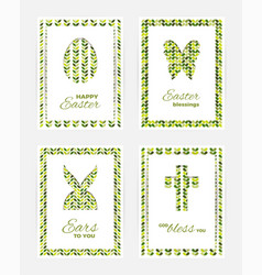 easter gift cards vector image