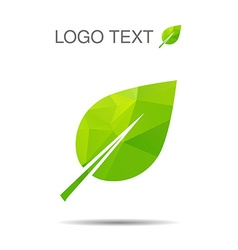 ecology logo or icon in eps nature logotype vector image
