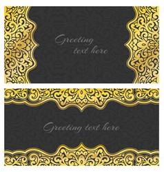 Elegant greeting vintage cards vector