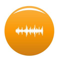 Equalizer tune icon orange vector