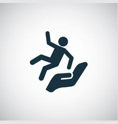 Falling man icon vector