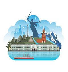 Famous landmarks russia vector