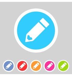 Flat pencil icon colorful icon vector