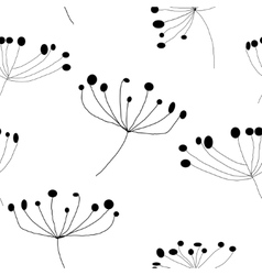 Floral seamless pattern white vector