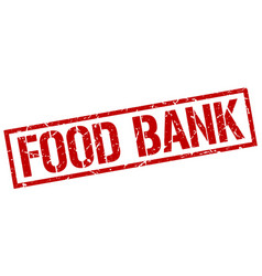 Food bank stamp vector