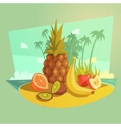 Fruit Cartoon Concept vector image